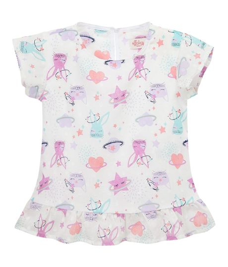 Camisa-manga-corta-Ropa-bebe-nina-Gris