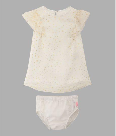 Vestido-manga-corta-Ropa-recien-nacido-nina-Gris