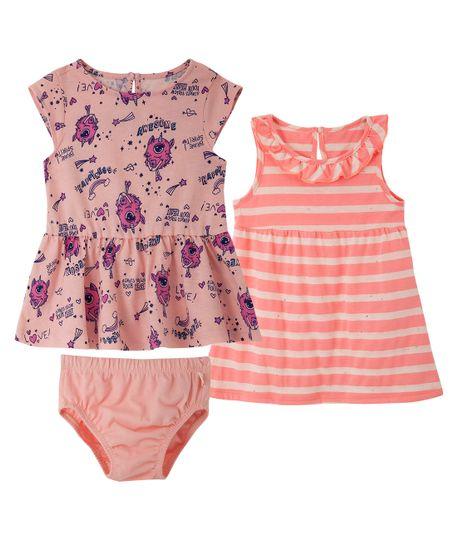 Set-de-vestidos-Ropa-recien-nacido-nina-Rosado
