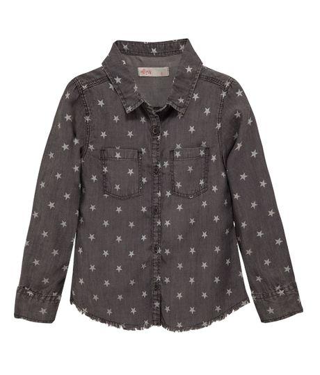 Camisa-manga-larga-Ropa-nina-Indigo-oscuro