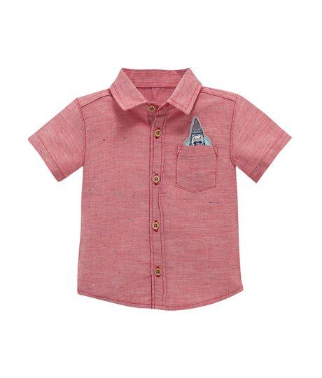 Camisa-manga-corta-Ropa-recien-nacido-nino-Rojo