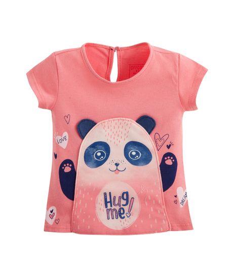 Camiseta-manga-corta-Ropa-recien-nacido-nina-Rosado