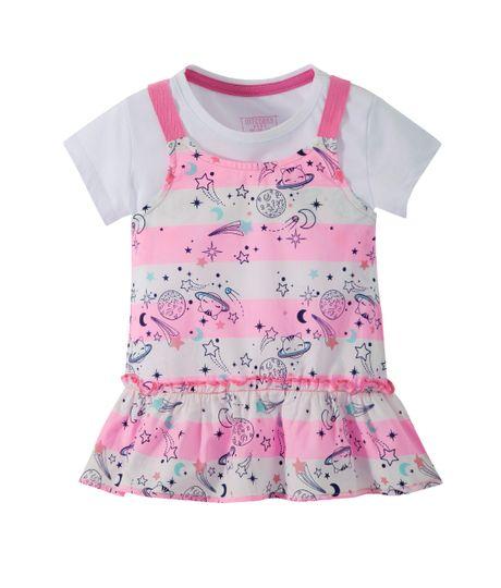 Set-de-camisetas-Ropa-bebe-nina-Blanco