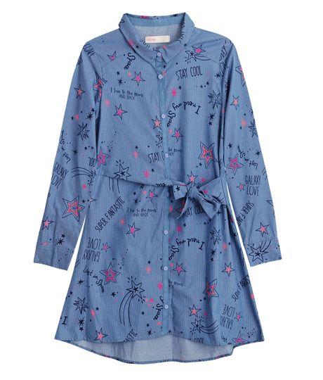 Vestido-manga-larga-Ropa-nina-Azul