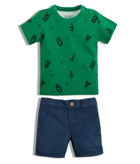 Conjunto-corto-Ropa-recien-nacido-nino-Verde