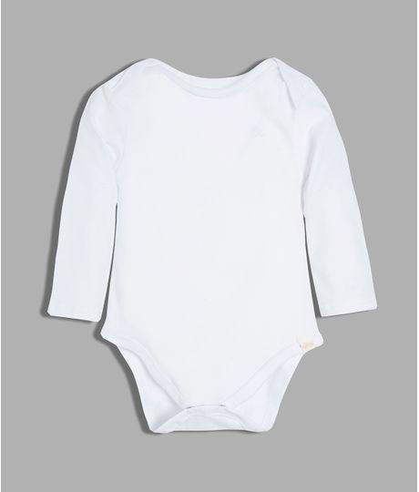 Body-manga-larga-Ropa-recien-nacido-nino-Blanco