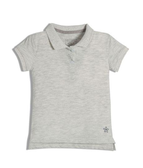 Camiseta-tipo-polo-Ropa-bebe-nina-Gris