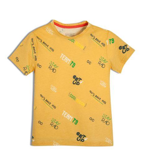 Camiseta-manga-corta-Ropa-nino-Naranja