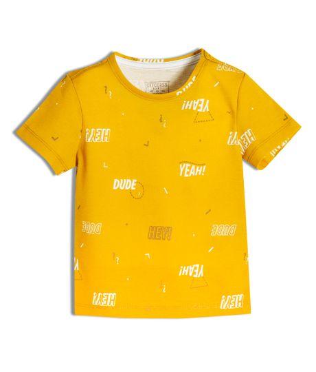 Camiseta-manga-corta-Ropa-bebe-nino-Naranja