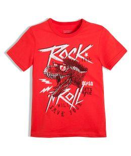 Camiseta-de-pijama-Ropa-nino-Rojo