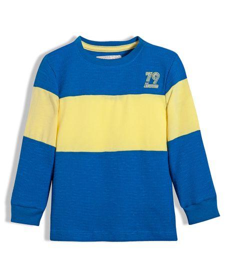 Camiseta-manga-larga-Ropa-bebe-nino-Azul