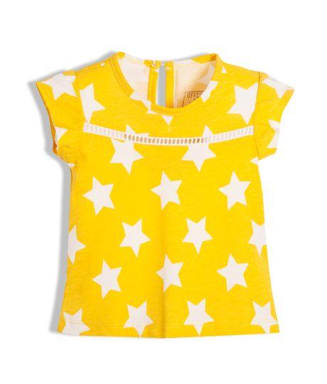 Camiseta-Ropa-recien-nacido-nina-Amarillo
