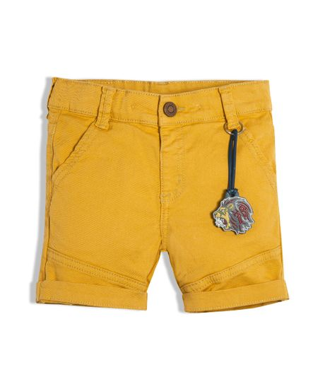 Pantalon-corto-Ropa-bebe-nino-Naranja