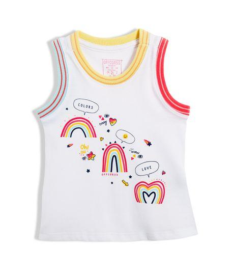 Camiseta-manga-sisa-Ropa-bebe-nina-Blanco