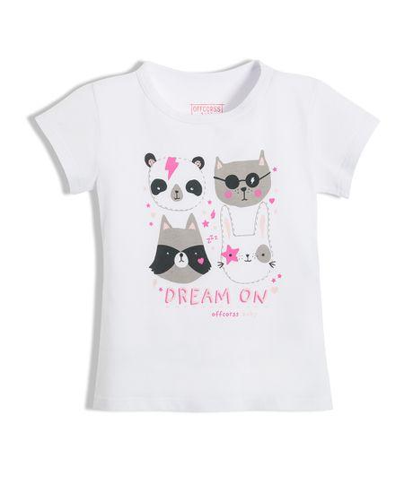 Camiseta-de-pijama-Ropa-bebe-nina-Blanco