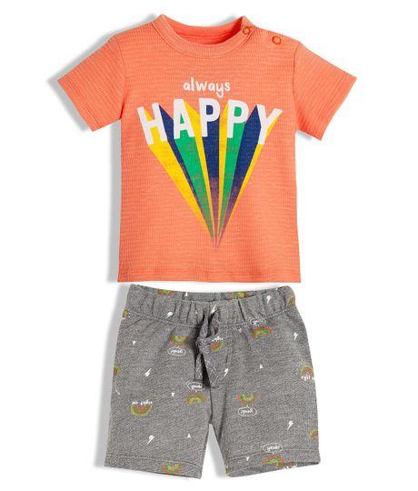 Conjunto-corto-Ropa-recien-nacido-nino-Naranja