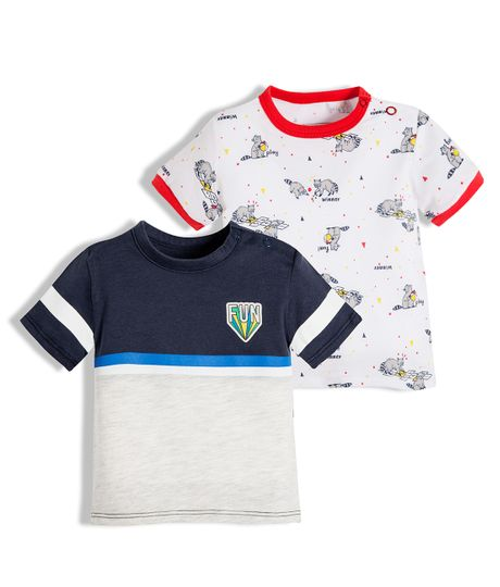 Set-x-2-camisetas-Ropa-recien-nacido-nino-Blanco