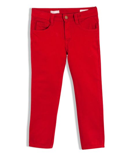Pantalon-super-slim-Ropa-nino-Rojo