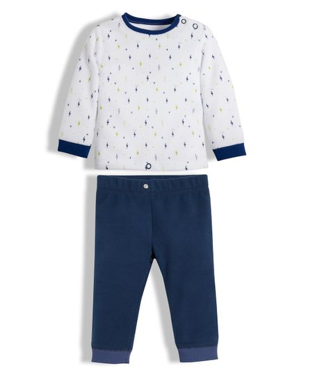 Pijama-Ropa-recien-nacido-nino-Azul