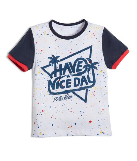 Camiseta-manga-corta-Ropa-bebe-nino-Blanco