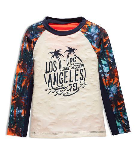 Camiseta-de-playa-Ropa-bebe-nino-Amarillo