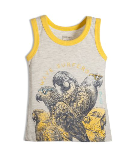 Camiseta-de-playa-Ropa-bebe-nino-Gris
