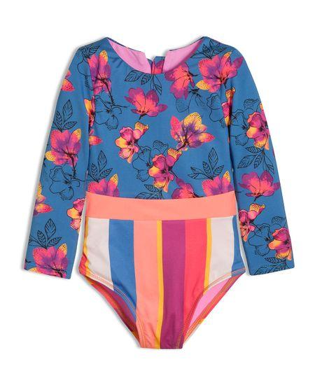 Vestido-de-baño-entero-Ropa-bebe-nina-Azul