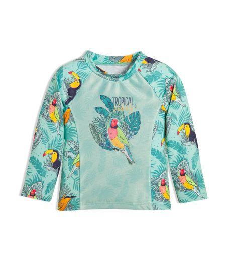 Camiseta-de-playa-Ropa-recien-nacido-nino-Verde