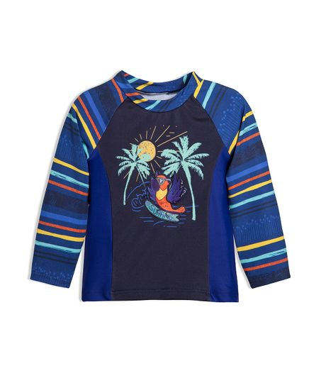 Camiseta-de-playa-Ropa-recien-nacido-nino-Azul