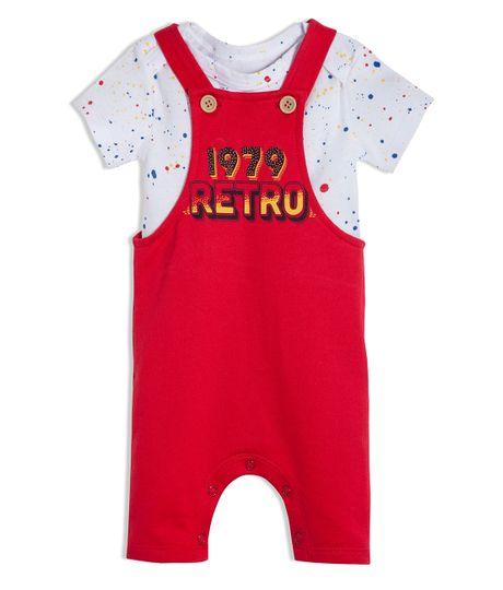 Conjunto-corto-Ropa-recien-nacido-nino-Rojo