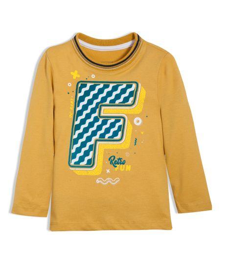 Camiseta-manga-larga-Ropa-bebe-nino-Naranja