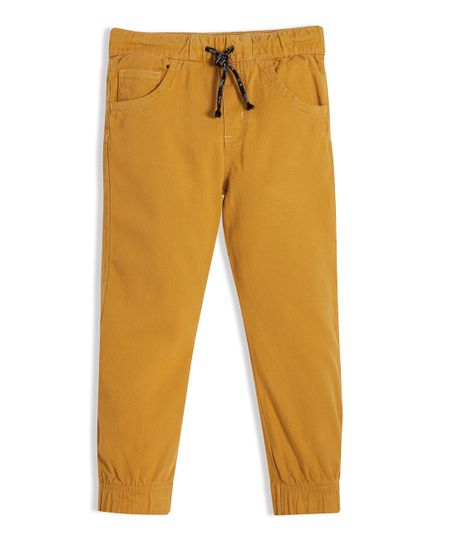 Pantalon-tipo-jogger-Ropa-nino-Naranja