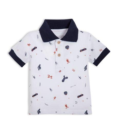 Camiseta-tipo-polo-Ropa-recien-nacido-nino-Azul