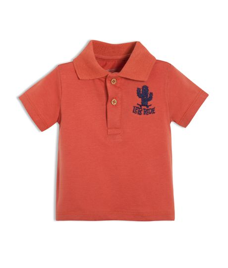Camiseta-tipo-polo-Ropa-recien-nacido-nino-Rojo