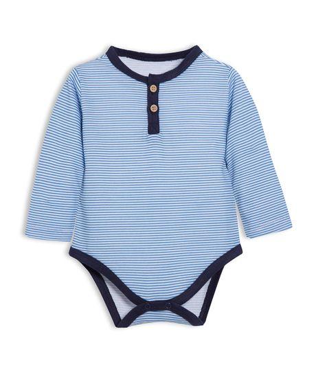 Body-manga-larga-Ropa-recien-nacido-nino-Azul