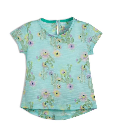 Camiseta-manga-corta-Ropa-bebe-nina-Verde