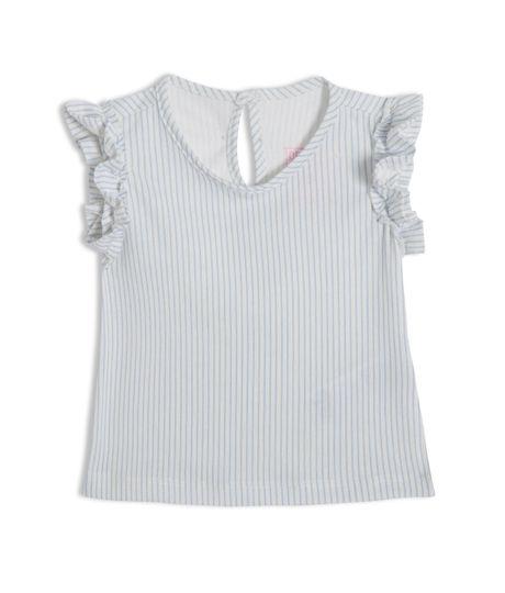 Camiseta-manga-corta-Ropa-recien-nacido-nina-Azul