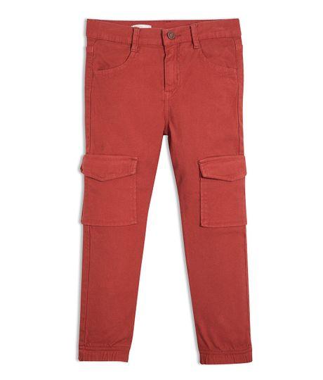 Pantalon-tipo-cargo-Ropa-nino-Rojo