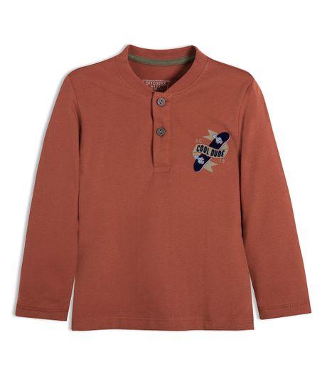 Camiseta-manga-larga-Ropa-bebe-nino-Rojo