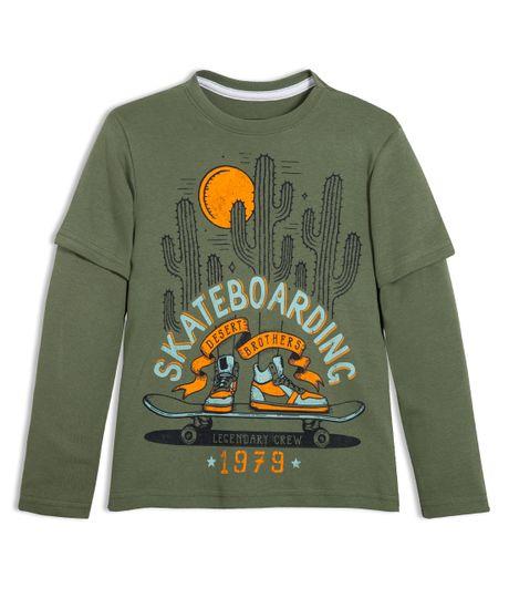 Camiseta-manga-larga-Ropa-nino-Verde