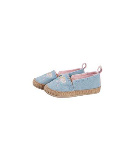 Zapatos-cosidos-Ropa-recien-nacido-nina-Azul