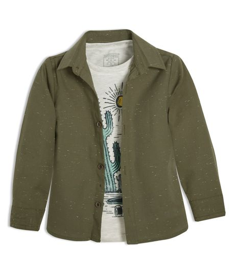 Camisa-manga-larga-Ropa-bebe-nino-Verde