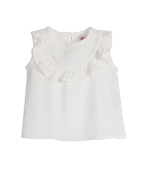 Camisa-manga-sisa-Ropa-recien-nacido-nina-Blanco