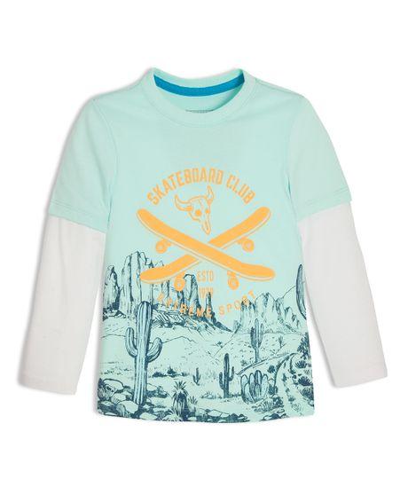 Camiseta-manga-larga-Ropa-bebe-nino-Verde