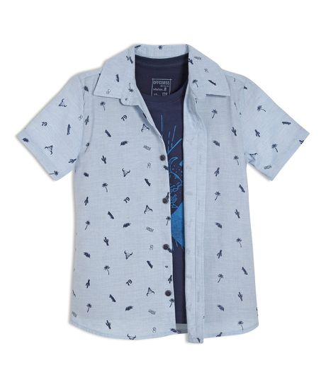 Camisa-manga-corta-Ropa-nino-Morado