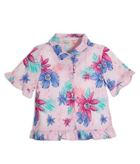 Camisa-manga-corta-Ropa-nina-Rojo
