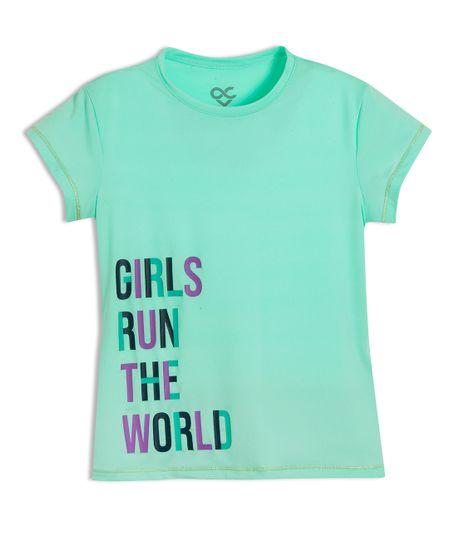 Camiseta-deportiva-Ropa-nina-Verde