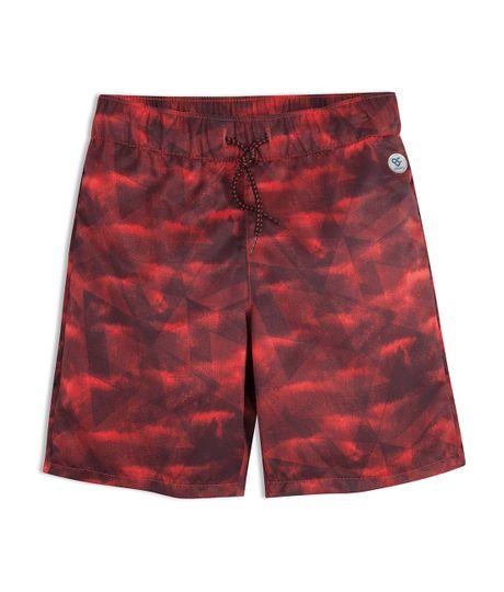 Pantaloneta-deportiva-Ropa-nino-Rojo