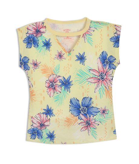 Camiseta-manga-corta-Ropa-nina-Amarillo