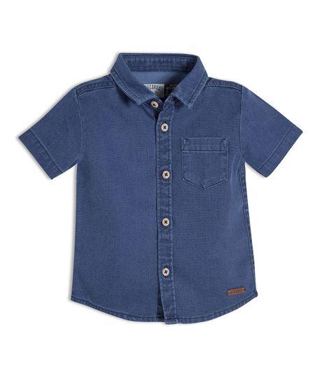 Camisa-manga-corta-Ropa-recien-nacido-nino-Indigo-medio